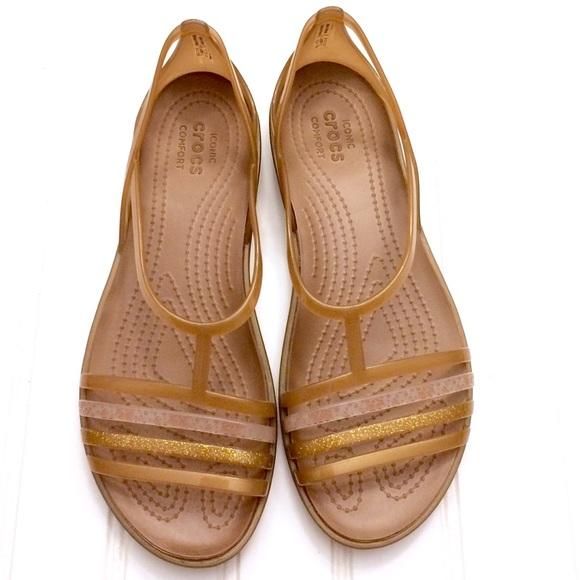 2badbf098d54 CROCS Shoes - Crocs Isabella bronze strappy jelly sandal flats